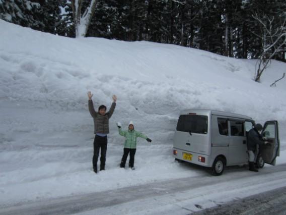 雪の壁・魚沼市