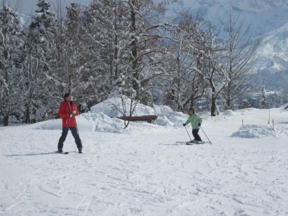 思いがけずにスキー