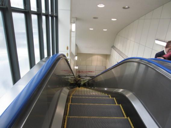 地下鉄で日本一長いエスカレーター