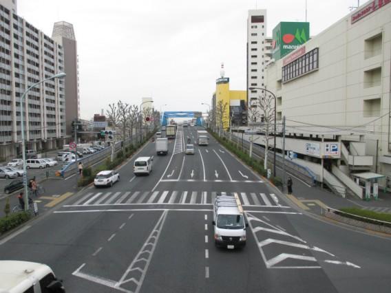 蒲田駅周辺でJR線を渡る方法その3・環八蒲田陸橋