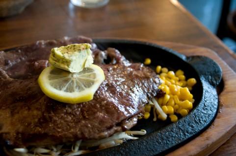 ウエスタンレストラン・ブロンコ/蓮沼でステーキとハンバーグ