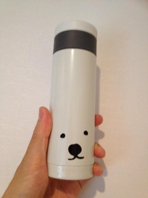 ホッキョクグマの水筒/絶滅危惧種を救え