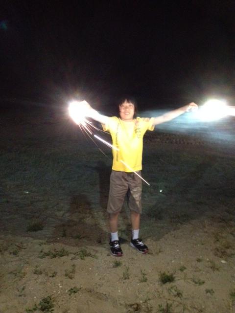 花火・伊良湖の夜の海岸で